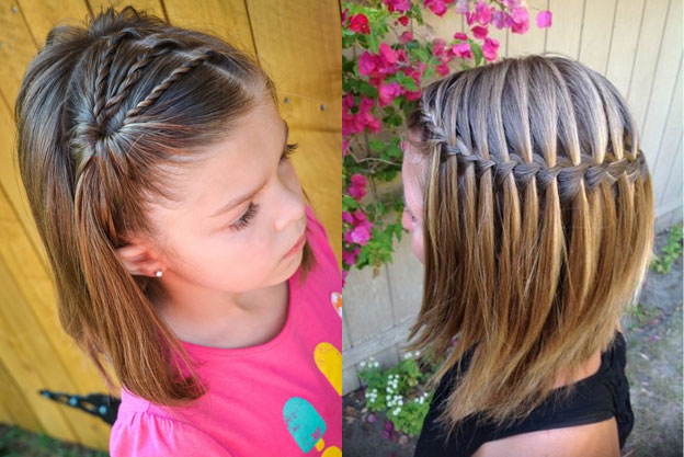 Фото причесок ребенку на год на короткие волосы
